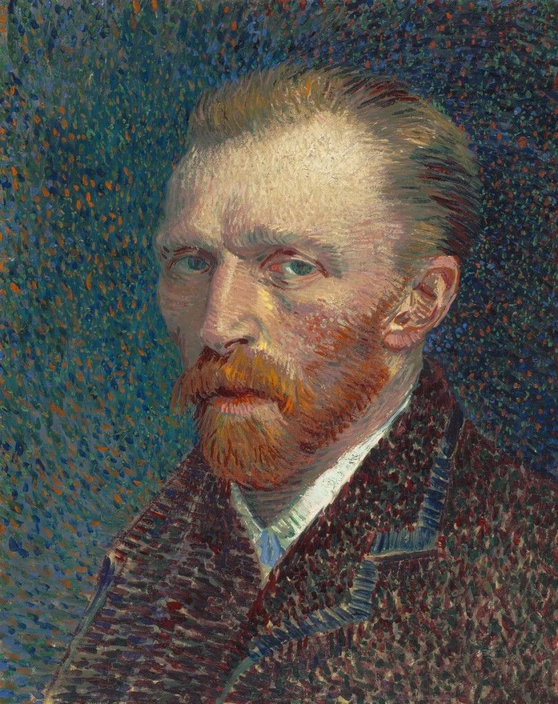 """Van Gogh's """"Self-Portrait"""" (1887) in the collection of the Art Institute of Chicago."""