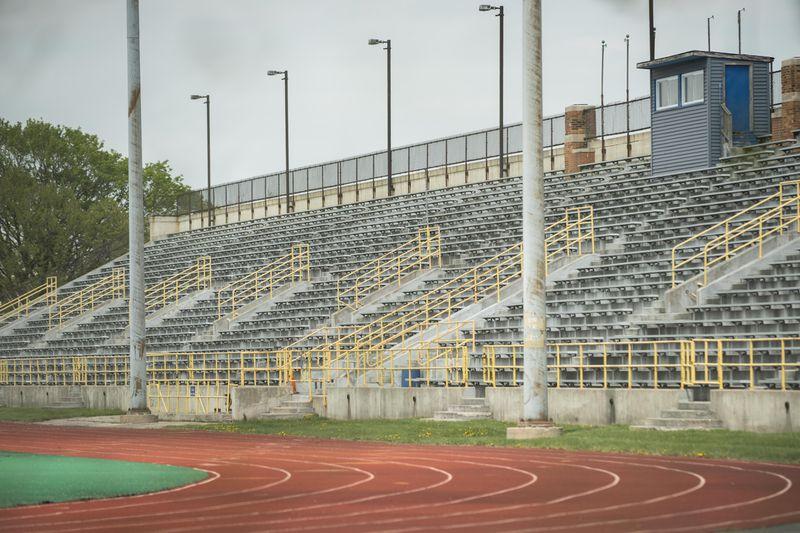 Hanson Stadium, 5501 W. Fullerton Ave., as seen in April.