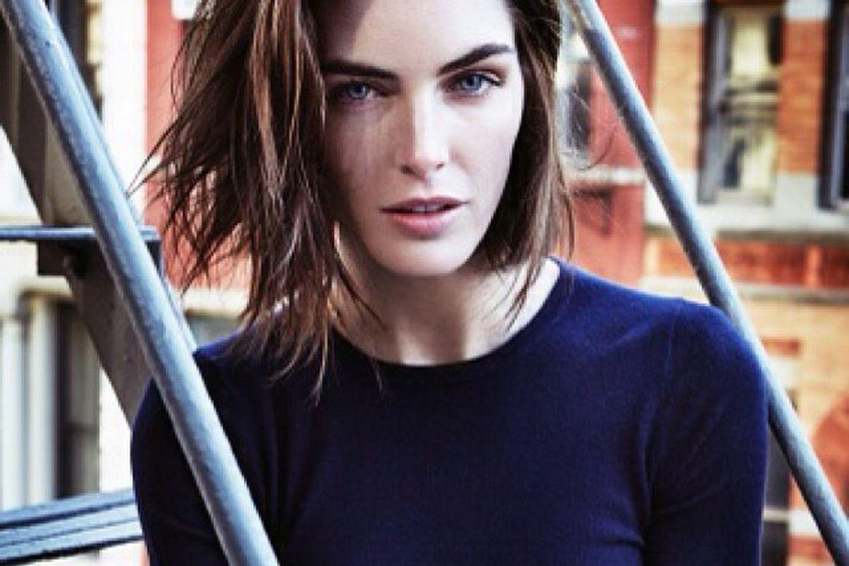"""Hilary Rhoda. Photo via Vogue/<a href=""""http://instagram.com/p/j2h37YP61E/"""">Instagram</a>"""