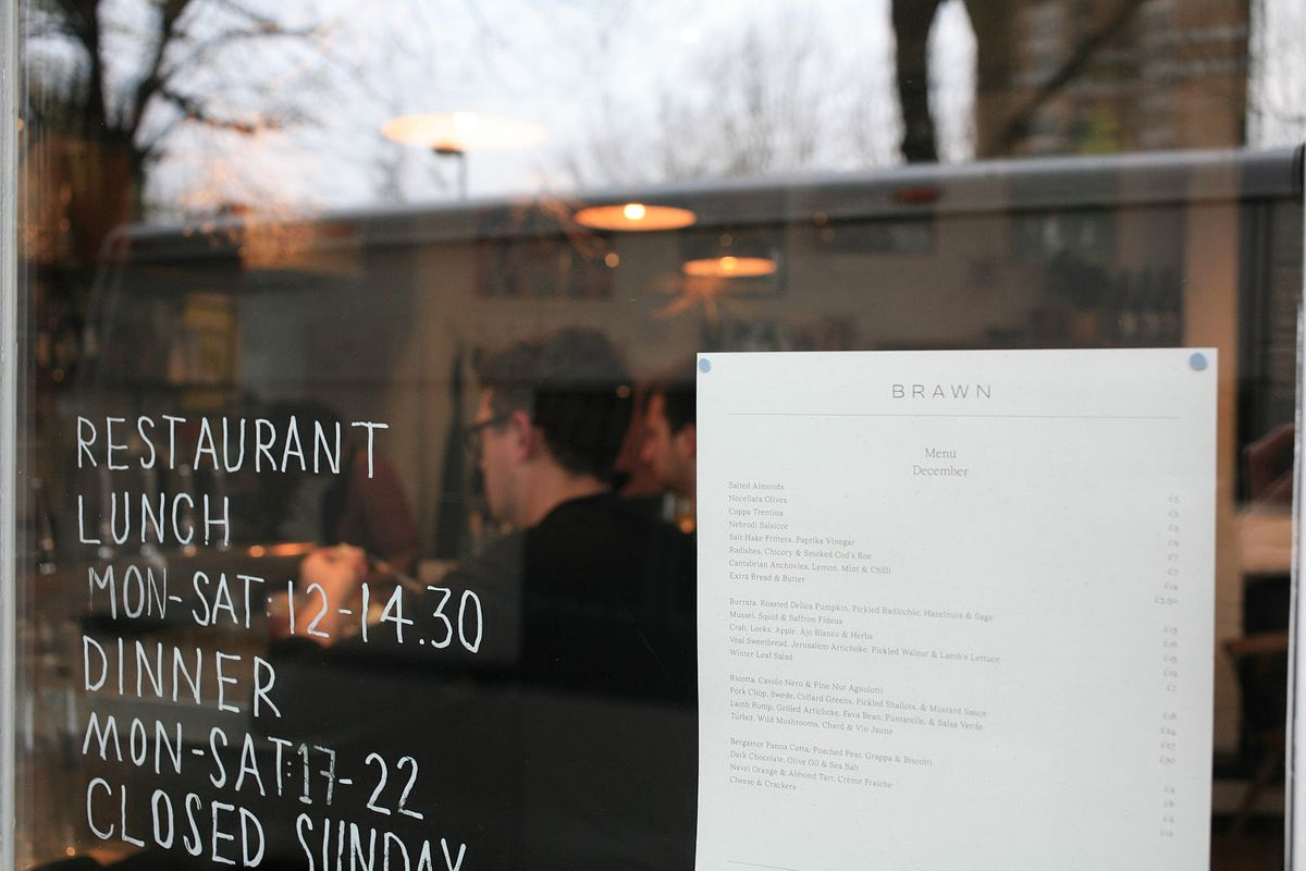 Brawn, on Columbia Road, Hackney, one of London's best restaurants
