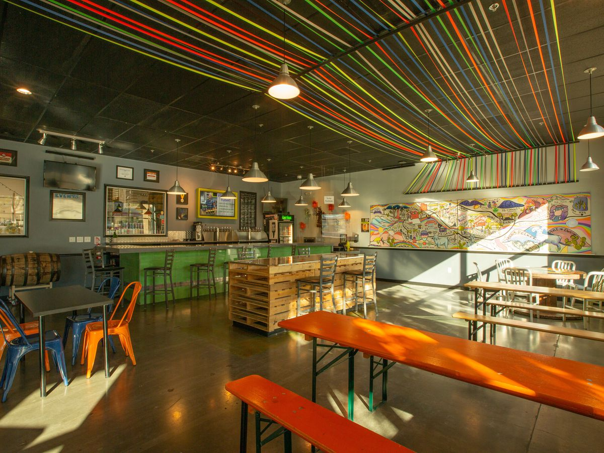 A brewery taproom