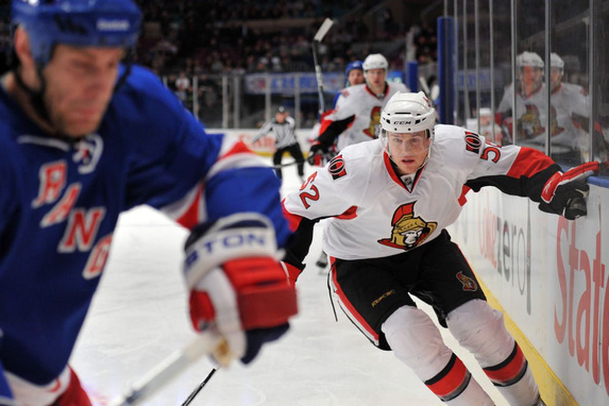 Ottawa Senators winger Colin Greening, pictured, and centre Zack Smith both signed contract extensions on Thursday afternoon.