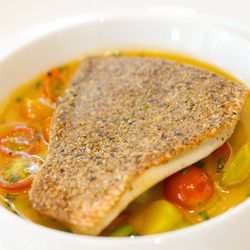 """Red Snapper Crusted with Nuts and Seeds from  Jean Georges by <a href=""""http://www.flickr.com/photos/gourmetgourmand/8080169650/in/pool-29939462@N00/"""">gourmetgourmand</a>"""