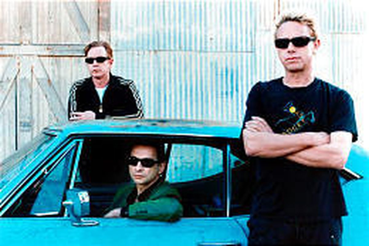 Members of the synth-goth group Depeche Mode are Andy Fletcher, left, Dave Gahan and Martin Gore.