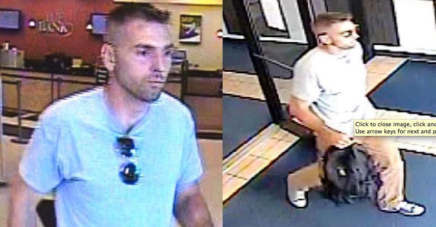 Surveillance photos of the man who robbed two Glendale Heights banks Thursday. | FBI