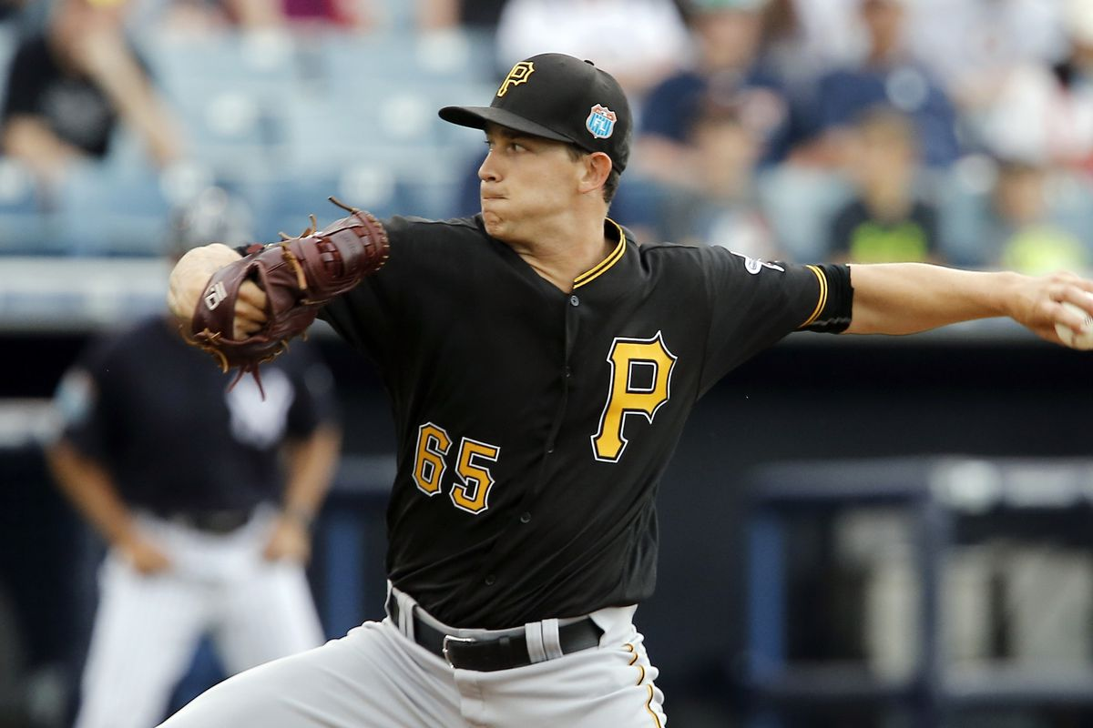Steven Brault in action for the Pirates in spring training.