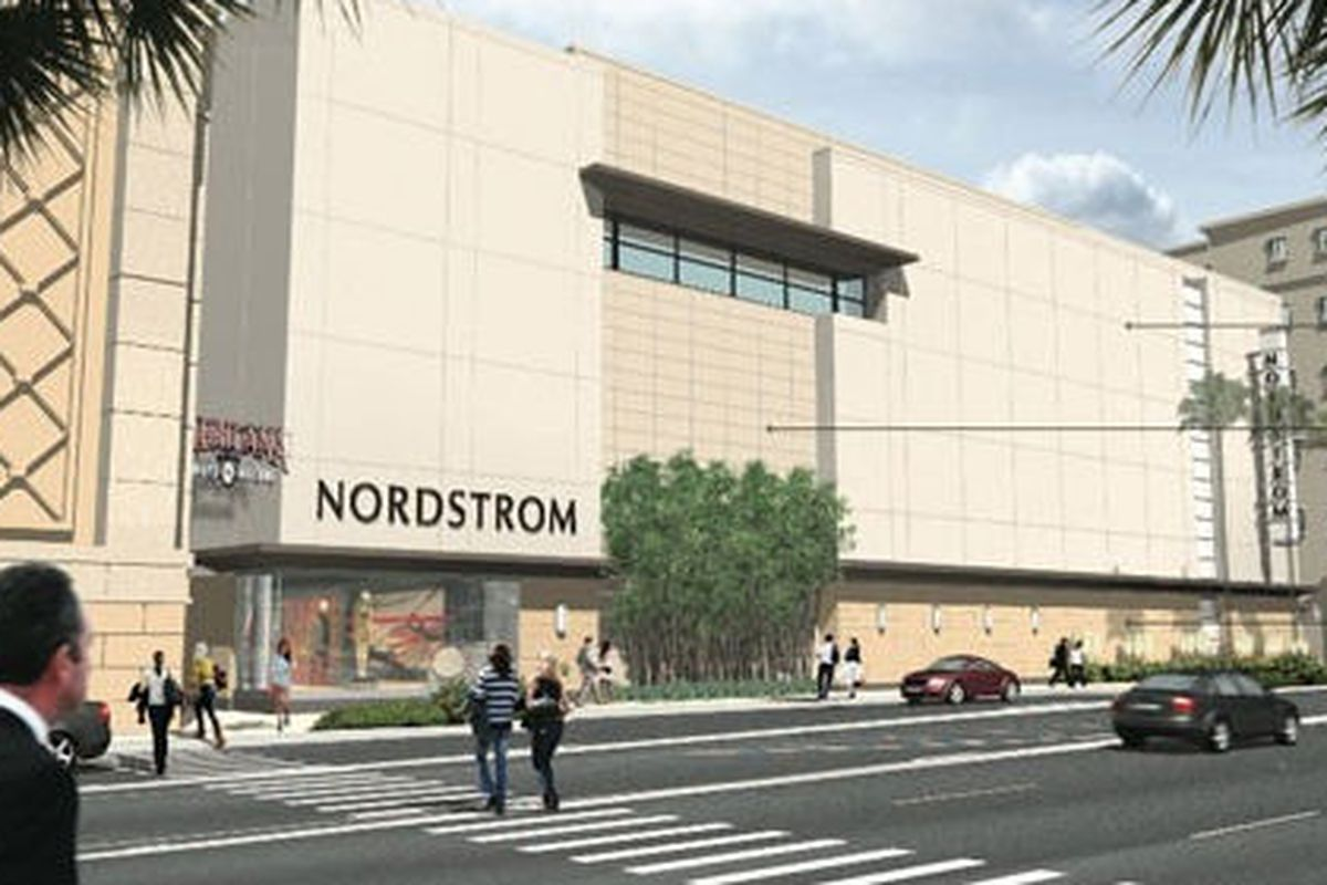 """Rendering via <a href=""""http://la.curbed.com/archives/2011/10/americana_expansion_approved_heres_what_itll_look_like.php#nordstromamericana-1"""">Curbed</a>"""