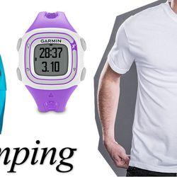 "<b>Marmot</b> Vapor Trail Hoody at <b>Eastern Mountain Sports</b>, <a href=""http://www.ems.com/product/index.jsp?productId=13220125&cp=3677318.12125209"">$120</a> on sale; <b>Garmin</b> Forerunner GPS Watch at <b>City Sports</b>, <a href=""http://www.citysp"