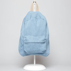 """A good, clean acid-washed look. <a href=""""http://totokaelo.com/store/products/dusen-dusen/ss13/backpack/blue-denim"""">Dusen Dusen blue denim</a>, $116 at Totokaelo."""