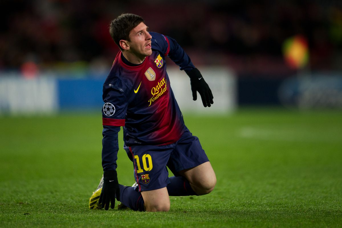There aren't any pictures of the Copa del Rey matches (yet), so here's Messi