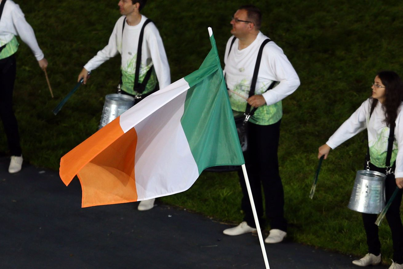 wave the Irish flag