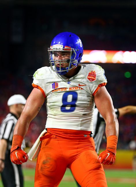 During his time at Boise State, Kamalei Correa established himself as a fearsome defensive presence. (Courtesy of