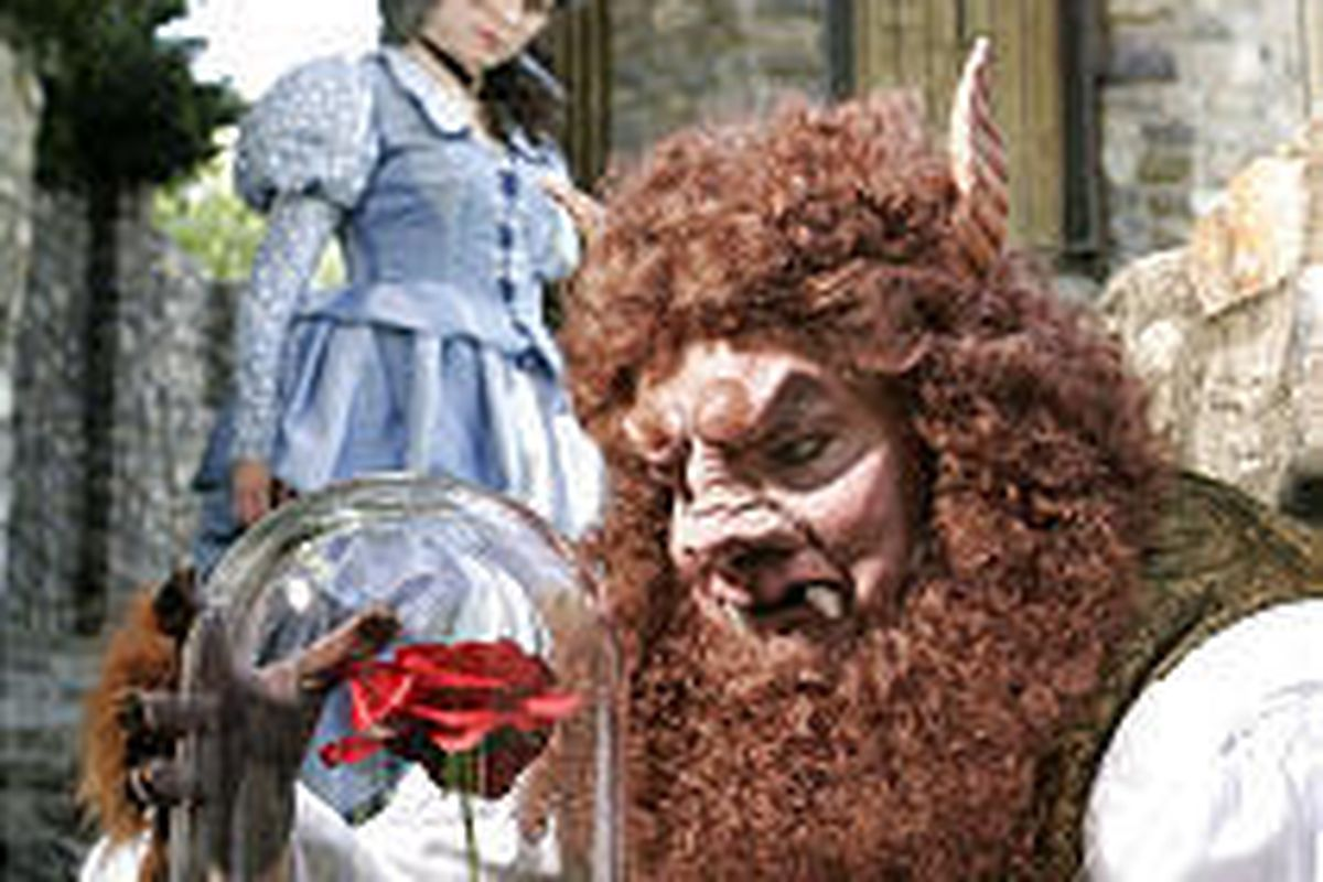 """Ben Hale plays the prince/beast and Amy Shreeve plays Belle in Hale Center Theater's production of """"Beauty and the Beast"""" in Orem."""