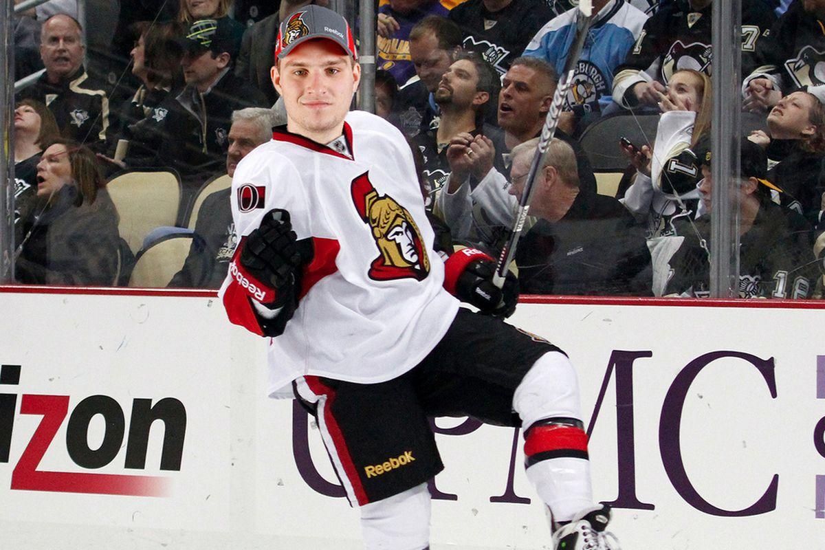 Mikael Wikstrand plays ice hockey in a baseball cap. YOLO.