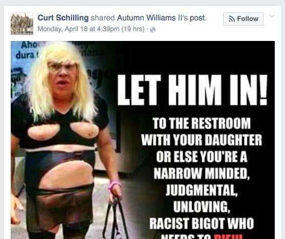 Curt Schilling trans post