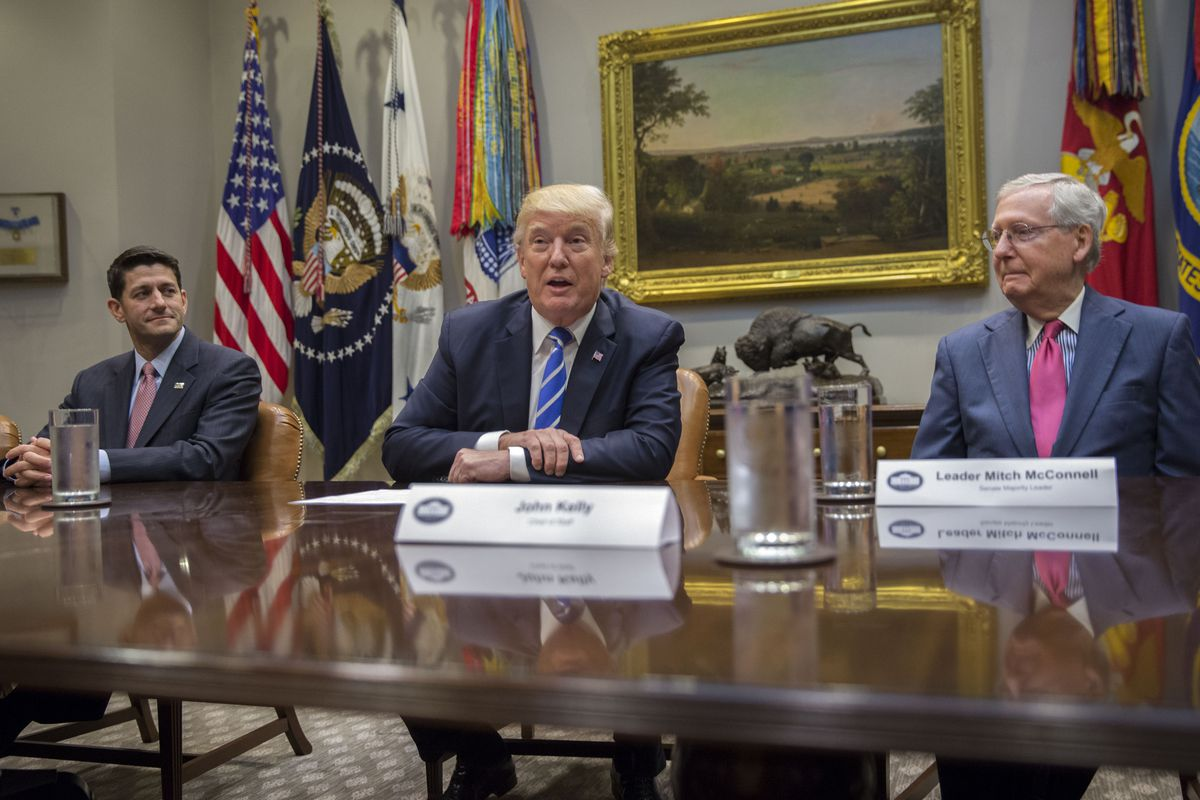 US President Donald Trump Meets With Congressional Leaders