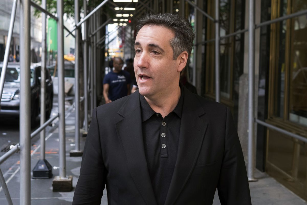 Michael Cohen, President Donald Trump's former personal attorney, stops to talk reporters in New York in 2019.