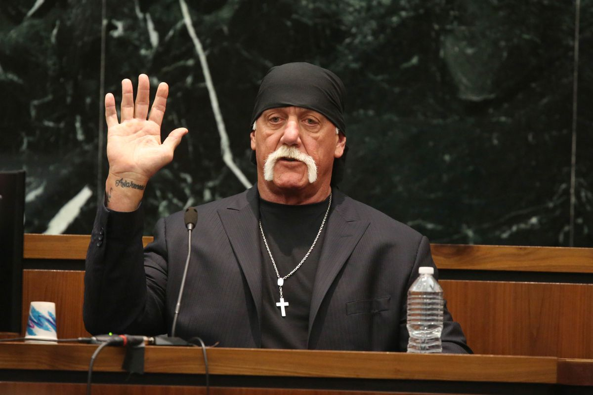 Hulk Hogan in a Florida court house