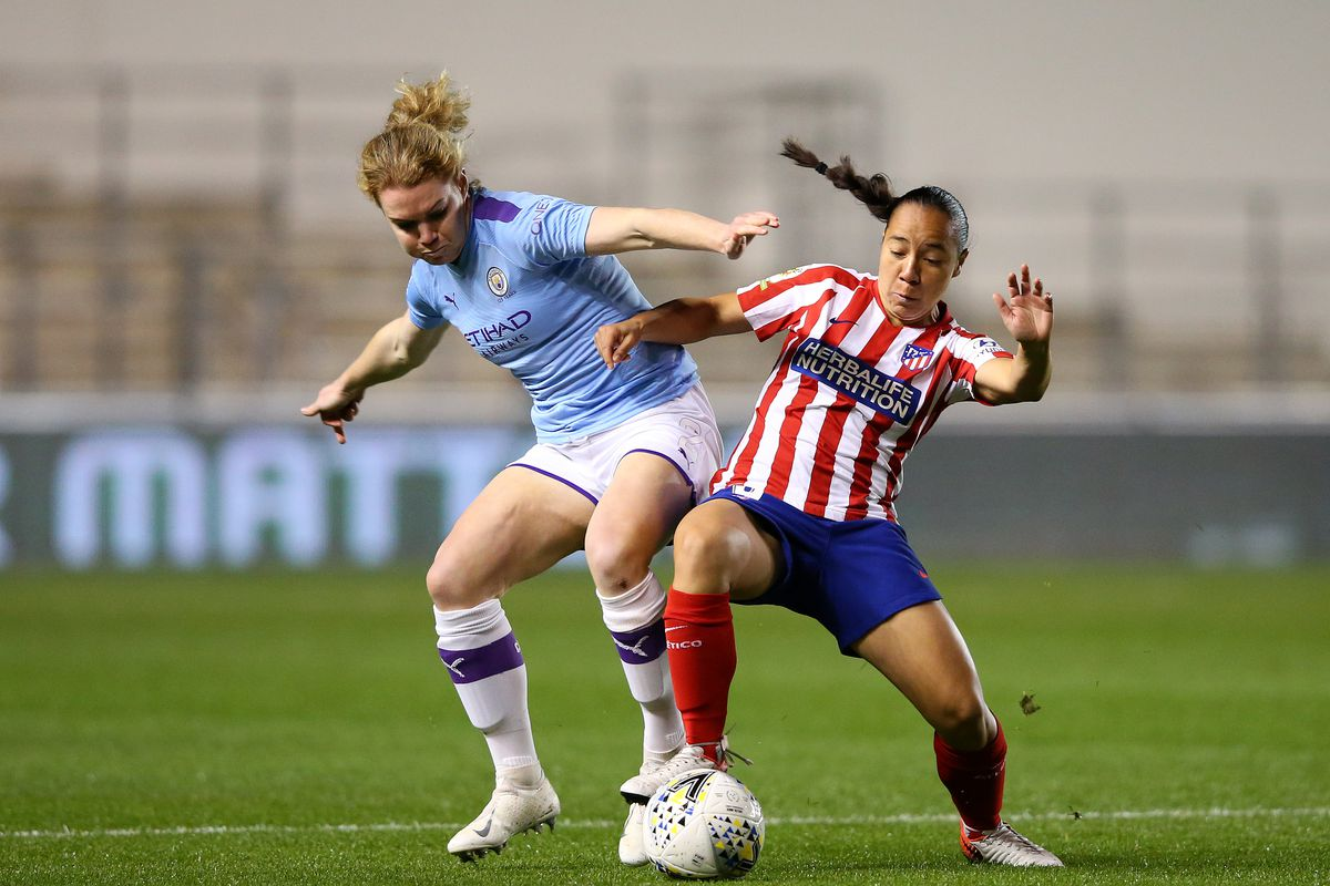 Manchester City Women v Atletico Madrid Femenino - UEFA Women's Champions League Round of 16: First Leg