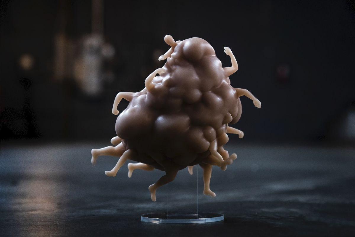 A photo of the human blob from the Inside collector's edition