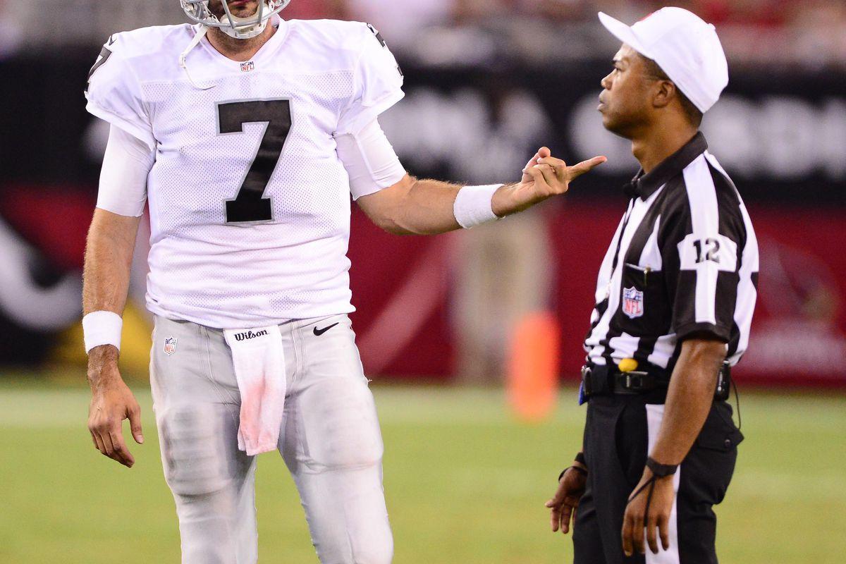 Aug. 17, 2012; Glendale, AZ, USA; This guy?  You want him to work NFL football? Wow...Mandatory Credit: Mark J. Rebilas-US PRESSWIRE