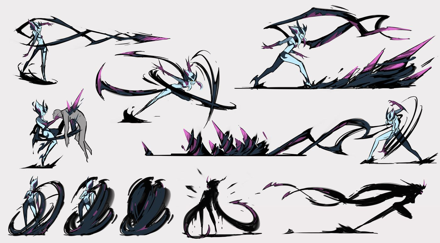 Evelynn S Rework Concept Art Shows Us What Could Have Been The Rift Herald I'll put the 30sec drawings i did on sketch league, a game where you basically guess people's drawin. evelynn s rework concept art shows us