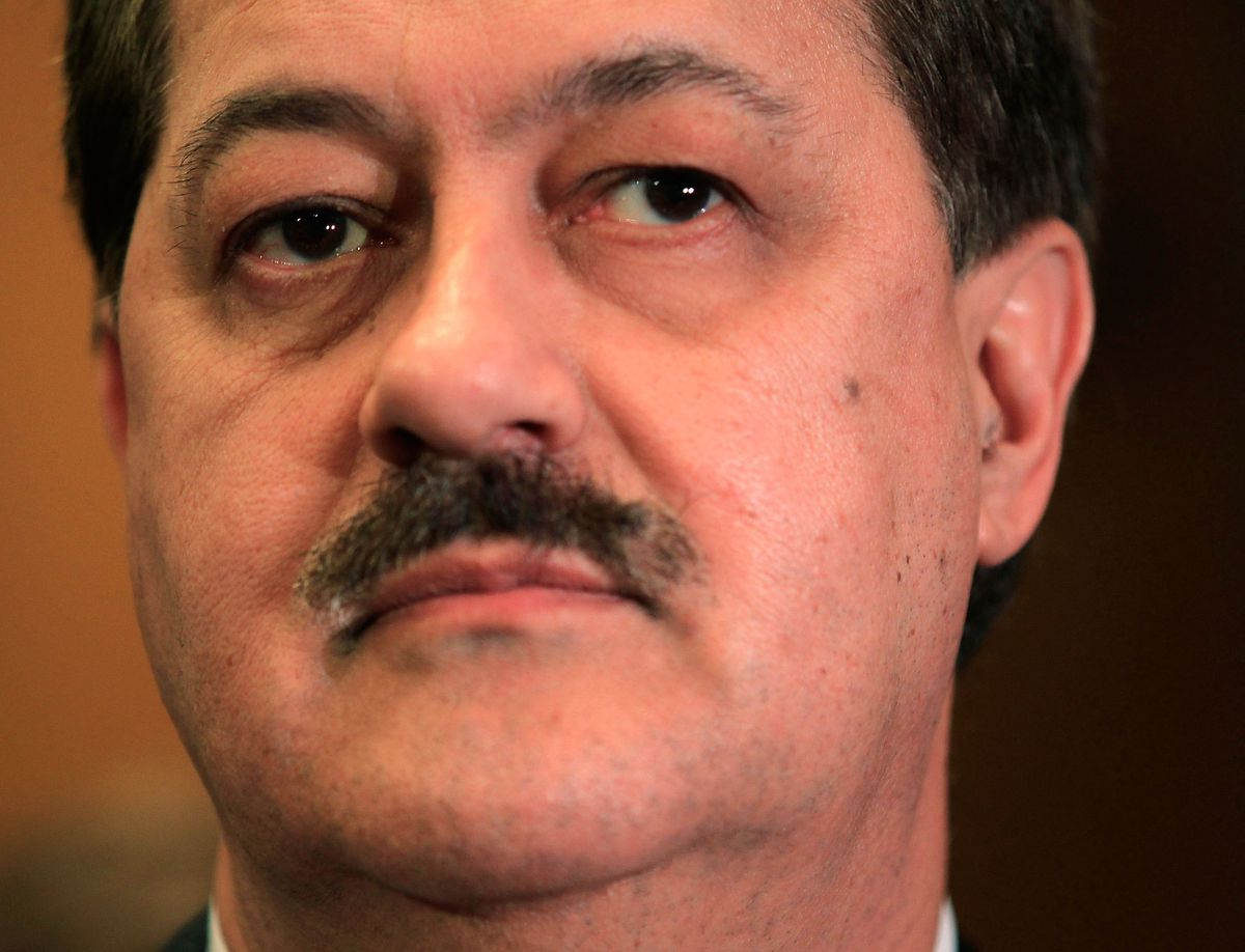 Chairman and CEO of Massey Energy Company Don Blankenship waits for his turn to testify during a hearing before the Labor, Health and Human Services, Education, and Related Agencies Subcommittee of the Senate Appropriations Committee May 20, 2010 on Capit