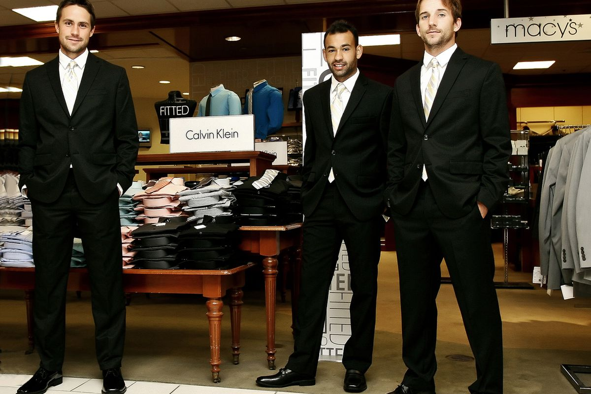 Todd Dunivant, Juninho, and Mike Magee have all suited up! Photo credit LA Galaxy/German Alegria