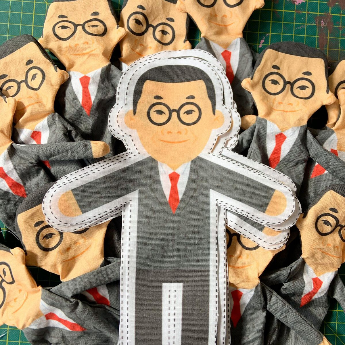Sewing pattern in shape of I.M. Pei.