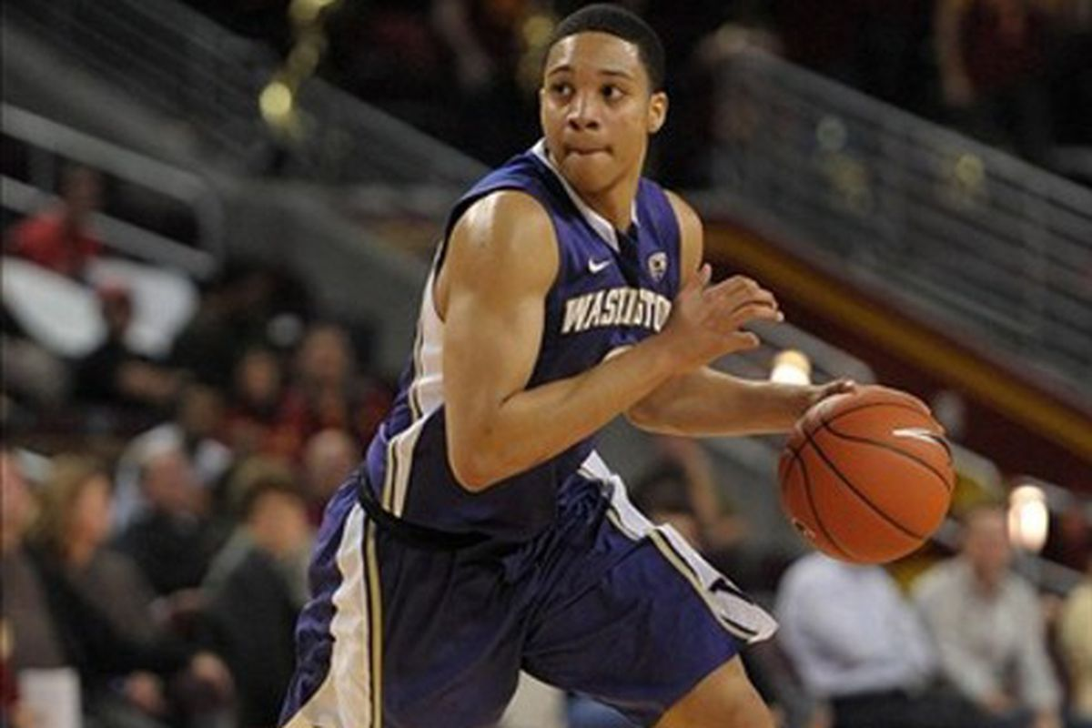 Abdul Gaddy has struggled in the Huskies new high-post offense.