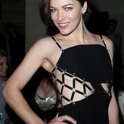 Milla Jovovich seizes the opportunity to wear her finest S&M inspired digs.