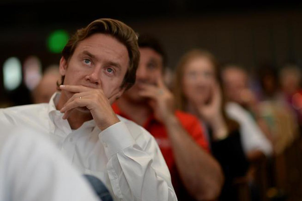 Sen. Mike Johnston at a community meeting in 2013.