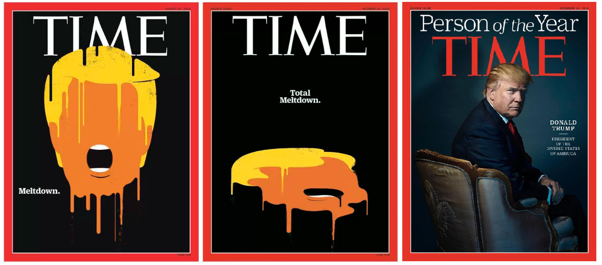 Time S Trump Covers Say All You Need To Know About 2016 Vox