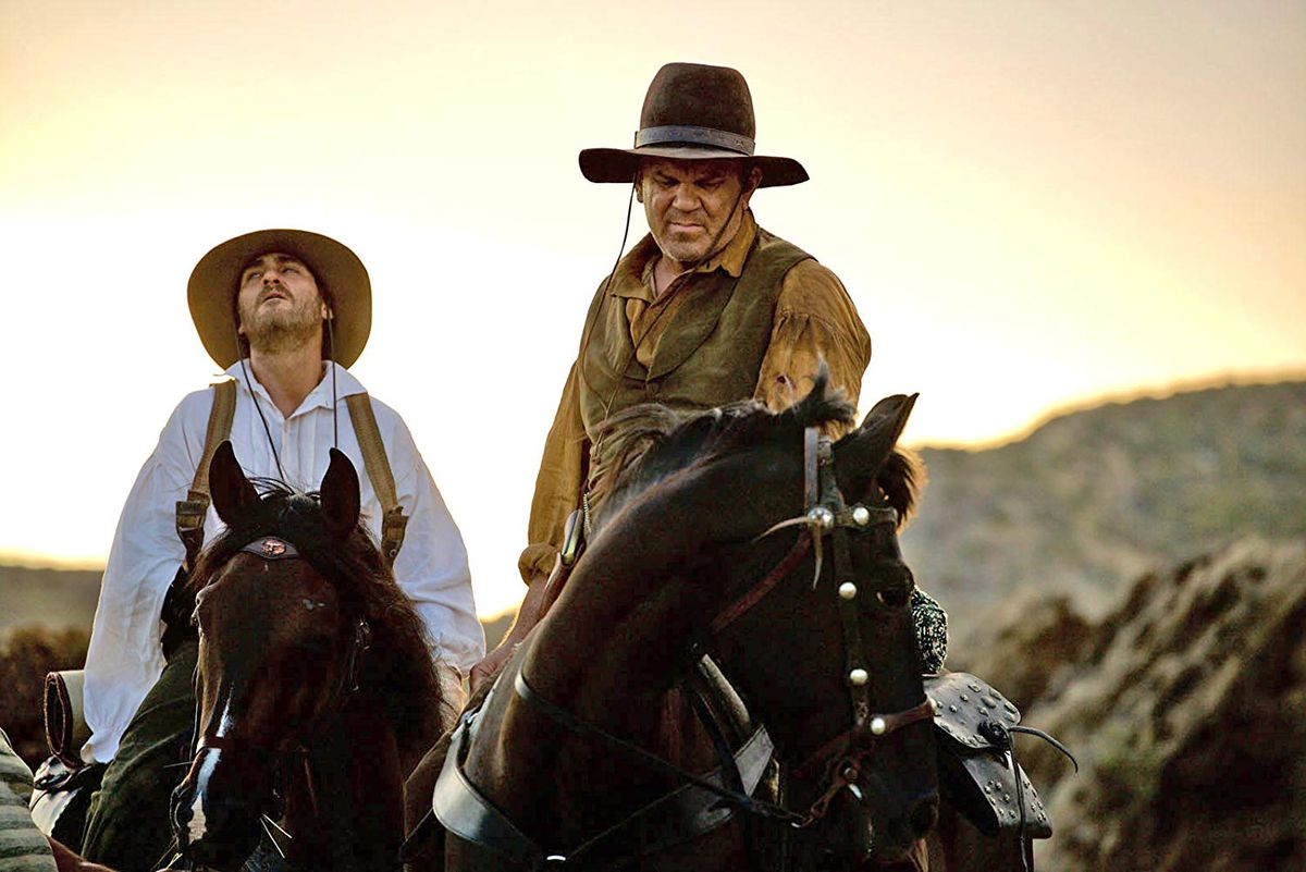 Joaquin Phoenix and John C. Reilly in The Sisters Brothers.
