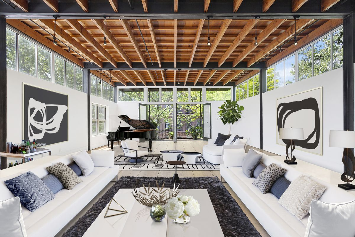 After contemporary renovation 19th century park slope for Carriage home