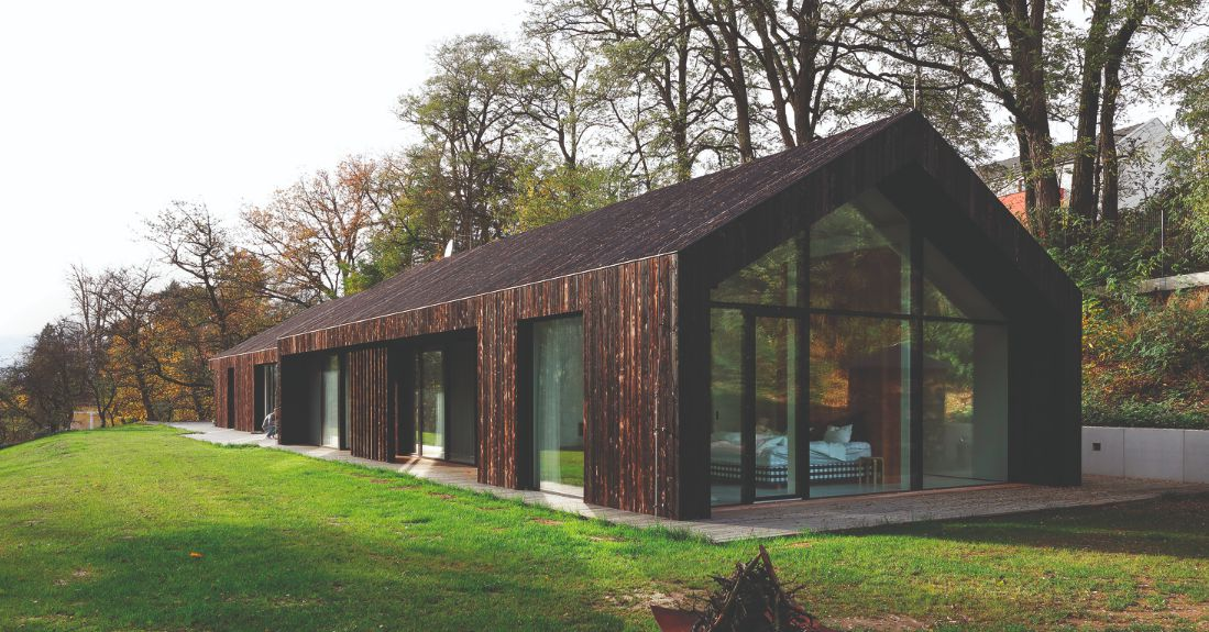 Modern Home Is Covered With Charred Wood Curbed