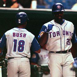 Homer Bush (left) and Carlos Delgado (right)