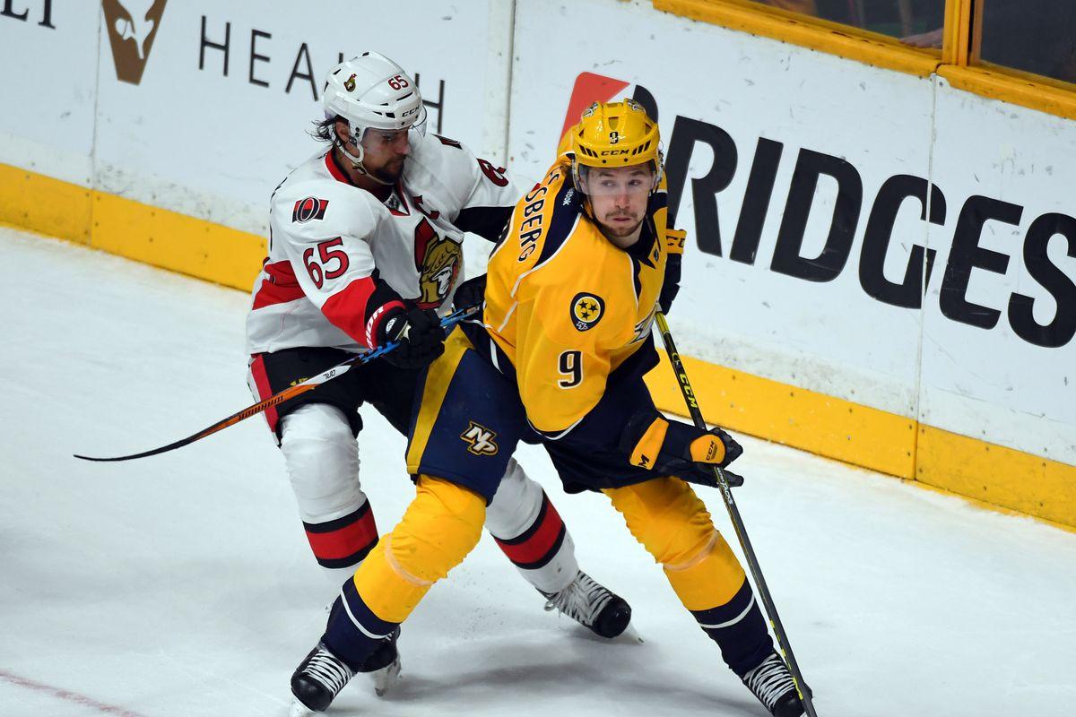 NHL: Ottawa Senators at Nashville Predators
