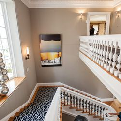 """The staircase leading up to the bedrooms. [Photo by <a href=""""http://www.patriciachangphotography.com/"""">Patricia Chang</a>]"""