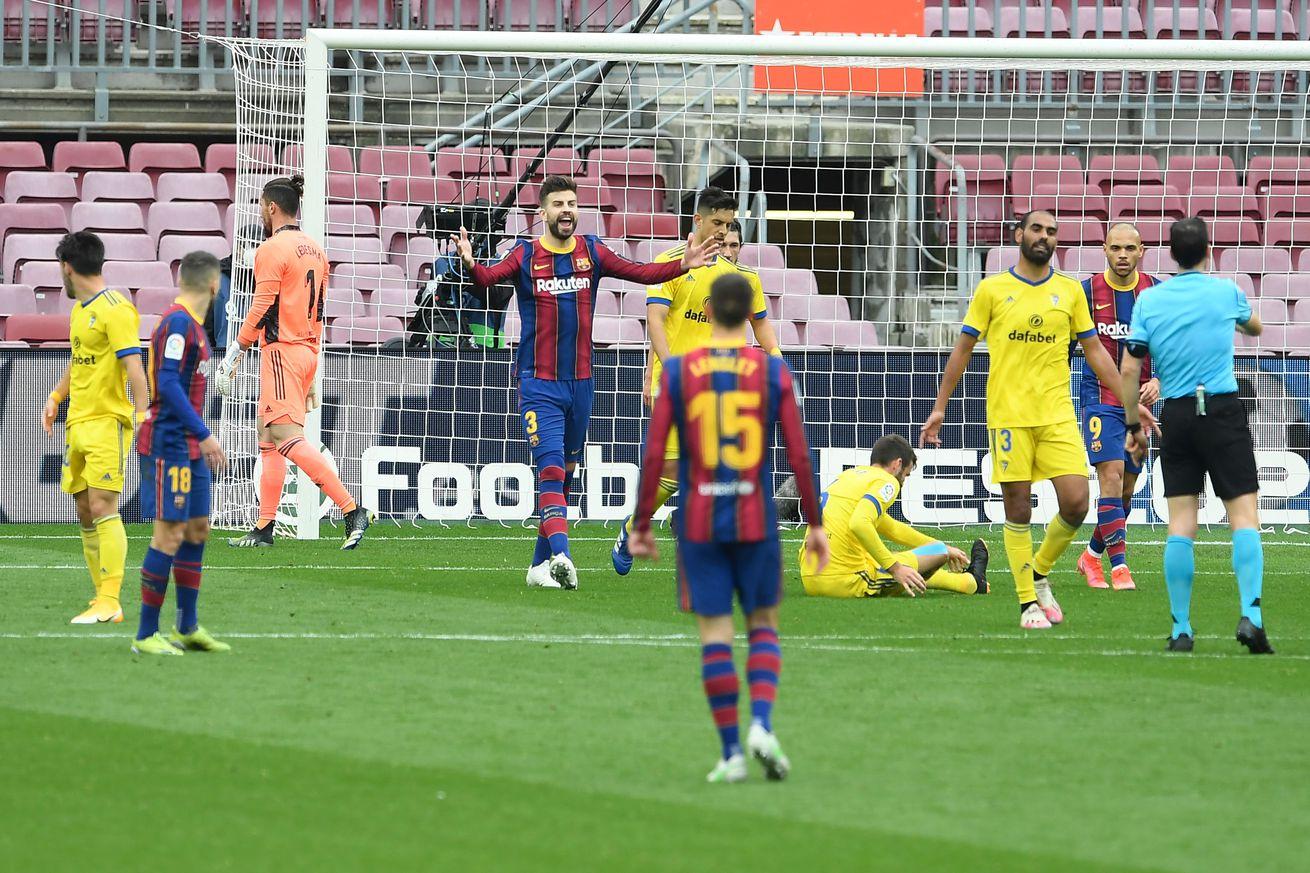 Barça 1-1 Cádiz: Recap