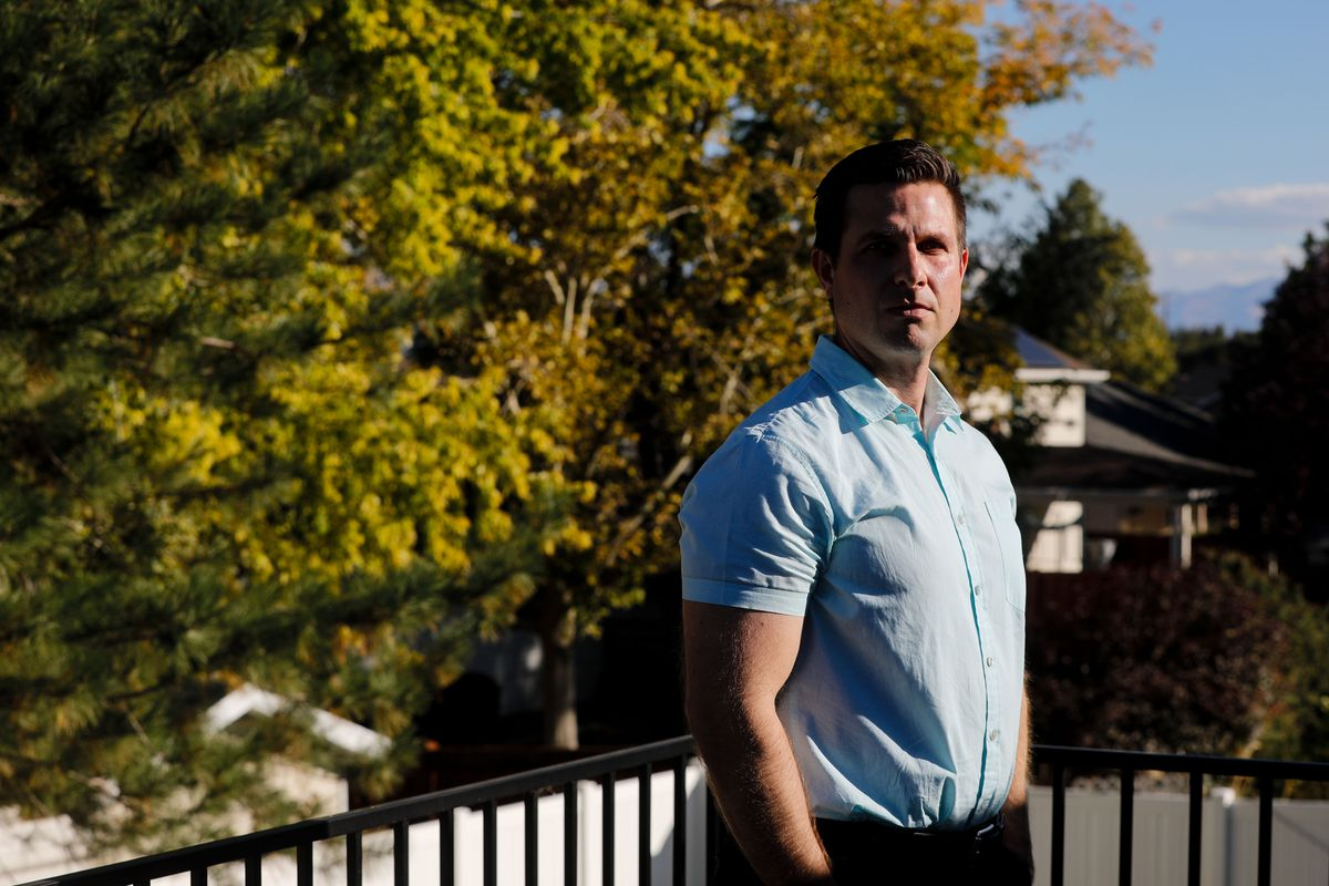Adam Torkildson poses for a portrait at his house in American Fork on Sunday, Oct. 3, 2021
