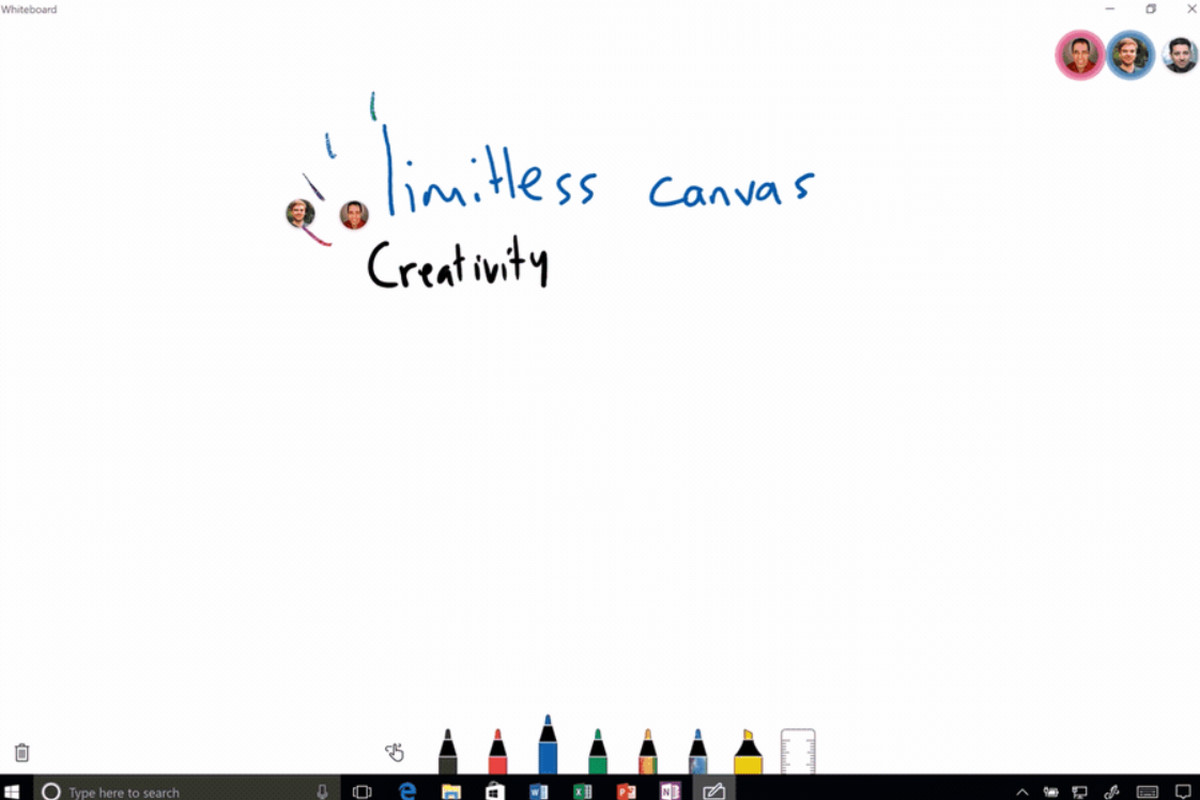 microsoft unveils collaborative inking whiteboard app for windows 10