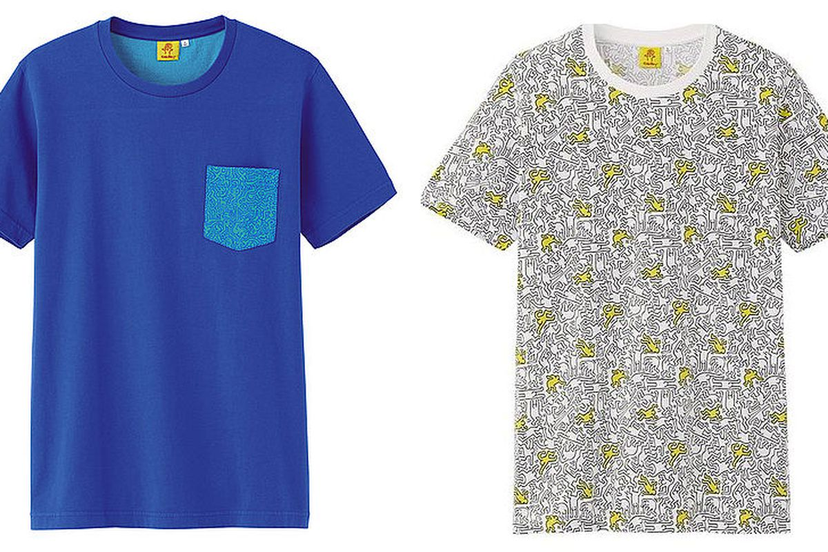 Two of the Keith Haring tees