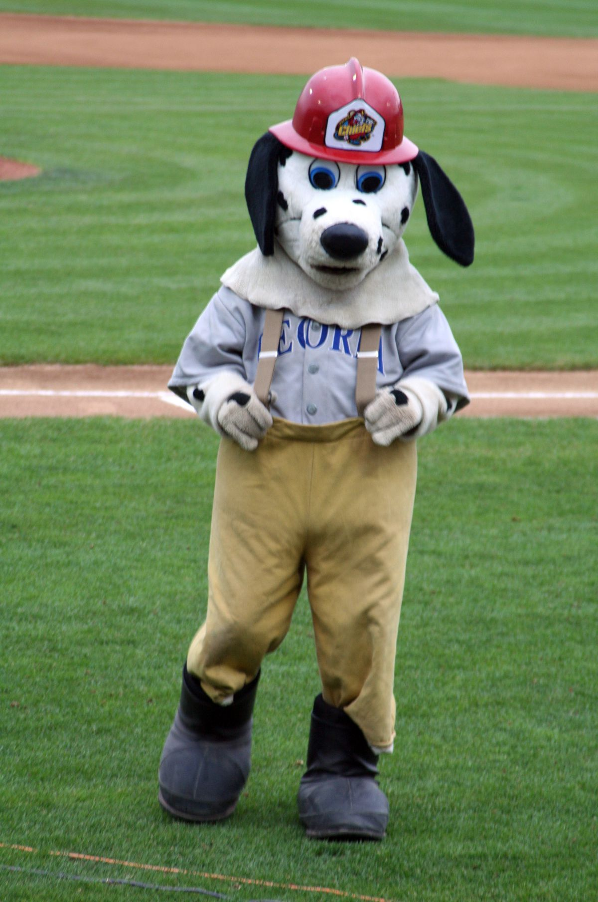 Homer, a firestation Dalmation, is the mascot of the Peoria