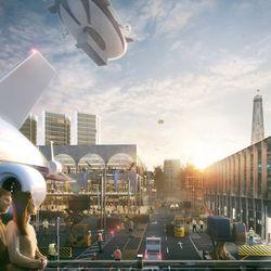 Hawkins\Brown's Heathrow City airship port