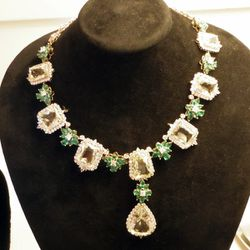 This necklace designed by Richard Berberian of Elyse Fine Jewelers features multi-color sapphires, white sapphires and round diamonds, clocking in at a cool 57 carats.