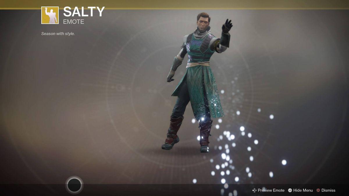 Destiny 2 - salty exotic emote