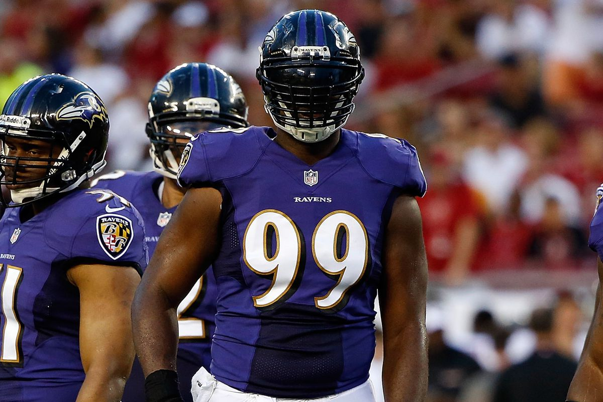 Chris Canty was a part of a first-team defense that impressed the Baltimore Sun's Mike Preston Thursday night.