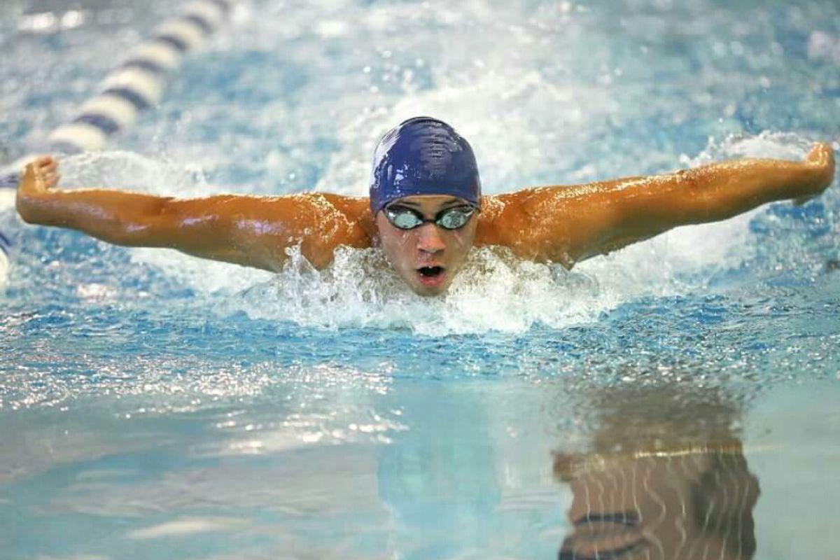 Ricardo Vazquez swims for the University of Mary Washington in Virginia.