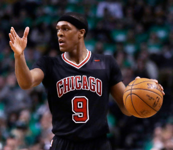 Rajon Rondo averaged 7.8 points and 6.7 assists for the Bulls last season.   Charles Krupa/AP